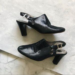 Anthropologie Ginger Goff Black Leather Slides - 6